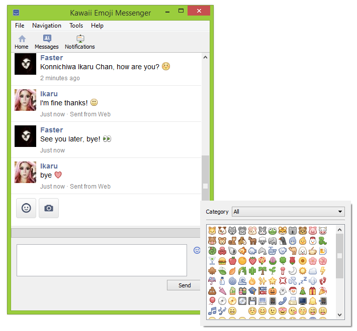 Kawaii Emoji Messenger